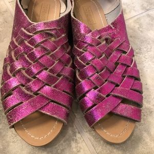 NEW TOPSHOP metallic leather convertible sandal